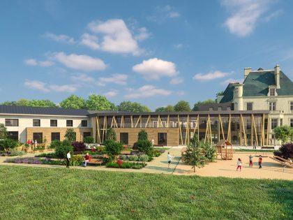 Reconstruction de l'établissement «Le Château du Tillet» (Cires-les-Mello)